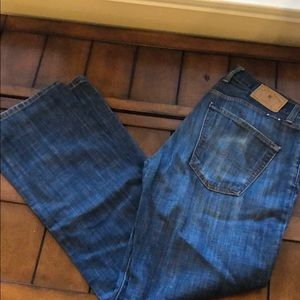 Men Lucky Brand Jeans 33x32 Original Boot 221